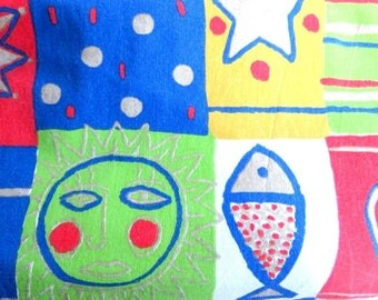 Kids heavy cotton fabric 140 x 50 cm