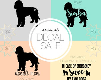 Annual Decal Sale and FREE SHIPPING