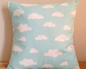 Cushion cover 40 x 40, clouds - blue and white