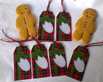 6 Christmas tags Scottish gift