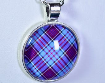 Royal Canadian Air Force Tartan - Handmade Scottish Tartan Pendant/Keychain