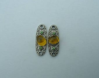 2 CONNECTORS 27 MM TRIBAL - YELLOW PATTERN