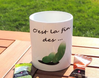 White ceramic mug is the end of the beans, coffee mug, tea, coffee, Tea Cup, mug