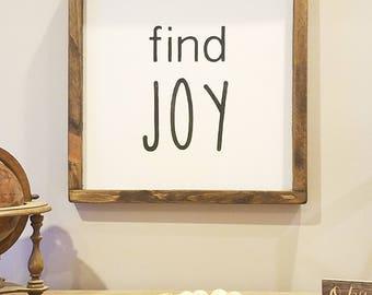 Find joy sign