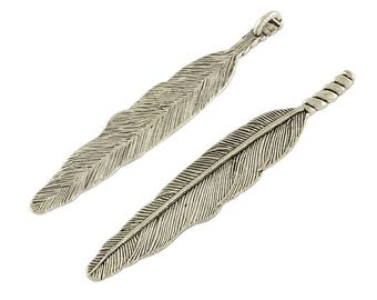 Feather Pendant, 80 mm Tall, 5 Pack (1258)