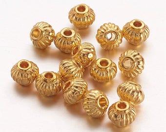 150 Gold Tone Tibetan Style Lantern Spacer Beads 5 x 4mm (B207e)