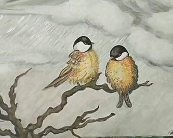 Cincie in winter, acrylic on cotton canvas cm (40x30)