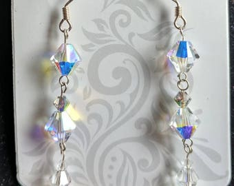 Swarovski Crystals Drop Dangle 925
