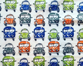 Voltswagon Beetle and Bus Baby Burp Cloth Car Boy Room Gift Minky clean up rag