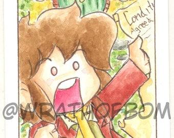 The Hobbit Bilbo Baggins fan art - artist trading card