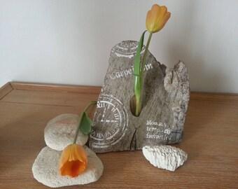Unique drift wood vase