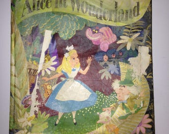 Vintage Alice In Wonderland 1951  book