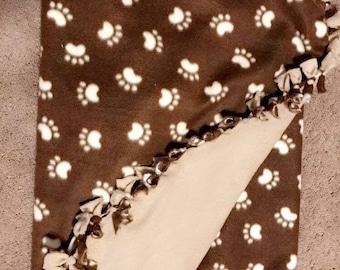 Paw Print Blanket