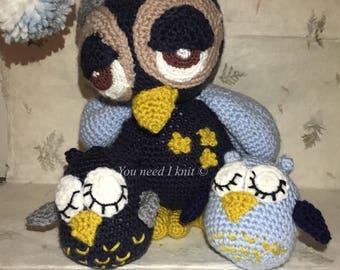 Handmade Sleepy owl