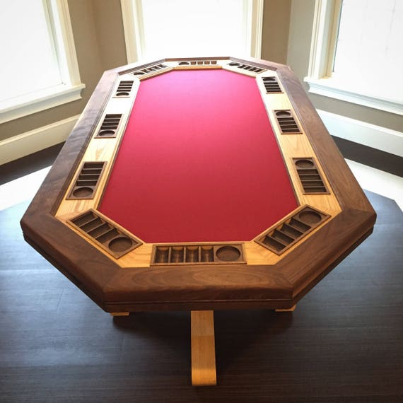 professional 12 seat hardwood poker table game room man cave