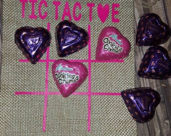 Personalized Valentine  tic tac toe