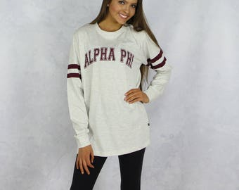 Alpha Phi Long Sleeve Jersey T-Shirt