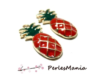 1 pendants glazed PINEAPPLE Red 24mm (S1164830)