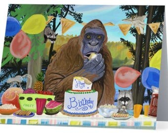 Party Crashers Customizable Bigfoot Birthday Party Invitation... set of 10