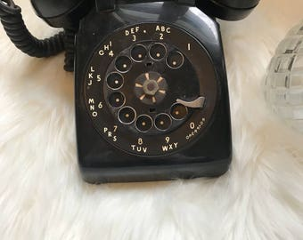 Vintage western electric bell system black telephone heavy