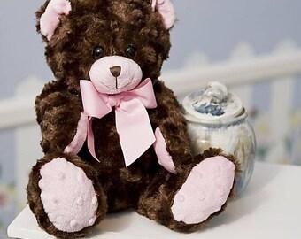 "Burton And Burton Plush 10"" Baby Cheyenne Bear  Pink Muzzle 3 Plus Boys & Girls"