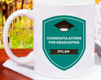 Congratulations for Graduating Personalized Mug With Name Printed On
