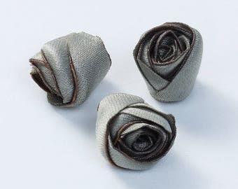 """5 roses fabric """"Khaki"""" 8mm"""