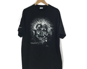 Vintage 90s Albert Einstein T Shirt Sz XL Smithsonian Washington DC One feels as if one is dissolved and merged into Nature