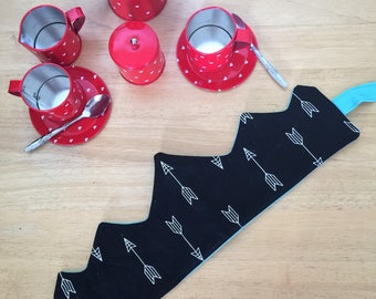 Black and White Arrow Fabric Crown for imaginative play/ garden parties/birthdays/cake smash