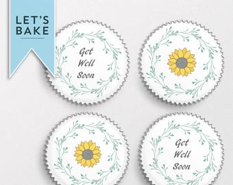 Get well soon,cake topper,cupcake topper,get well cupcake topper, get well cake topper, get well soon,cake,cupcake,gift