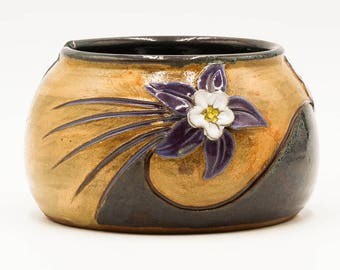 Columbine Yarn Bowl | Colorado Yarn Bowl | Yarn Bowl | Knitting Bowl | Pottery | Ceramic | Stoneware | Pottery Yarn Bowl | Ceramic Yarn Bowl