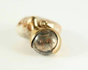 Kalevala koru bronze bird necklace. Finland