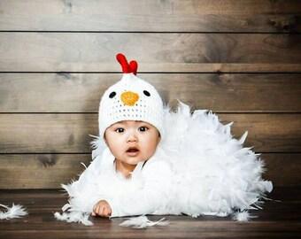 Rooster / Chicken Crochet Beanie Hat
