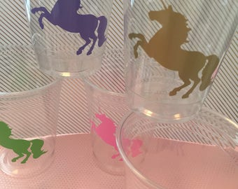 12 Unicorn party cups