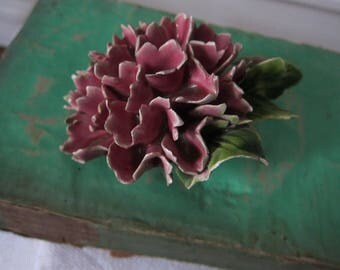 Antique French ceramic flower