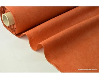 Rust faux fabric for tablecloth and decoration. x 1 m