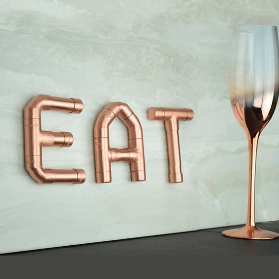 Glass Letters For Wall Eat Copper Letters Wall Letters Decorative Letters