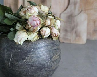 ENJOY SALES Arts and crafts pottery vase / French pottery / Flower Pot / planter /Cadeau for her / ceramic of art signed