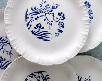 ENJOY SALES French Dessert plates DIGOIN Sarreguemines France- This model is called Paradis (Paradise)