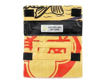 Upcycling tobacco tobacco bag of cement bag (motive: fish yellow black)