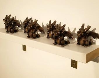 LIMITED EDITION Bronze Cast Dwagon Figure Cute Dragon