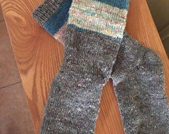 Hand-knitted women's socks