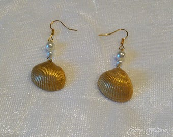 "Boucles ""Golden Shell"""