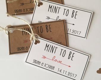 Mint to Be Wedding Favour Tags, Wedding Favour Tags, Rustic Wedding Stationary, Mint Favour Tags, Gift Tags
