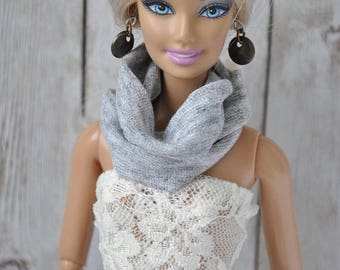 Beautiful handmade scarf for Barbie Fashionistas,Curvy,Model Muse,Fashion Royalty,Poppy Parker and similar size dolls