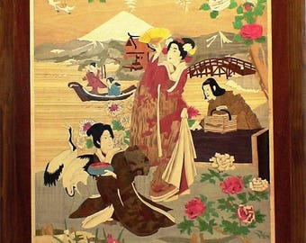 "INLAY Panel ""Geisha"" Japanese prints """