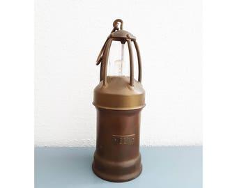 Original Mining  Lamp from Belgium