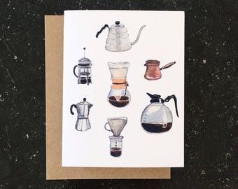 'Coffee' greeting card