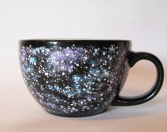 Galaxy Coffee Mug Big Mug Nebula Ceramic Mug Space Hand Painted Tea Cup Astronomy Gift Galaxy Space Ceramic Cup Stars Space Mug Gift Mug