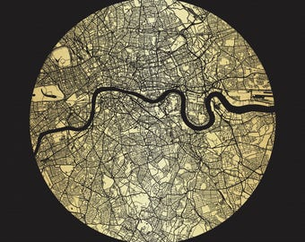 Limited edition Gold and Black London screen print unframed